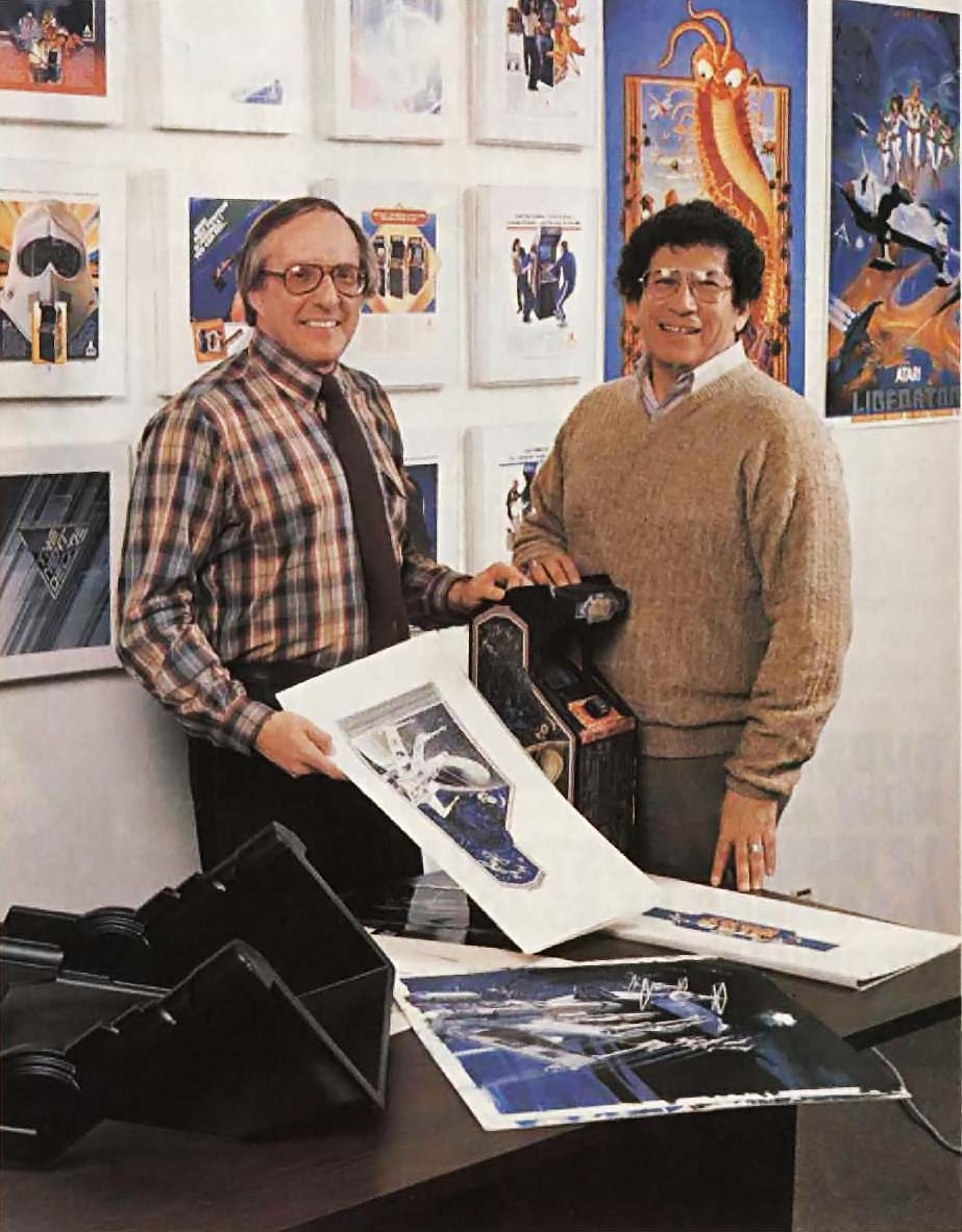 George Opperman and Robert Flemate, graphic designers for the Atari video game company