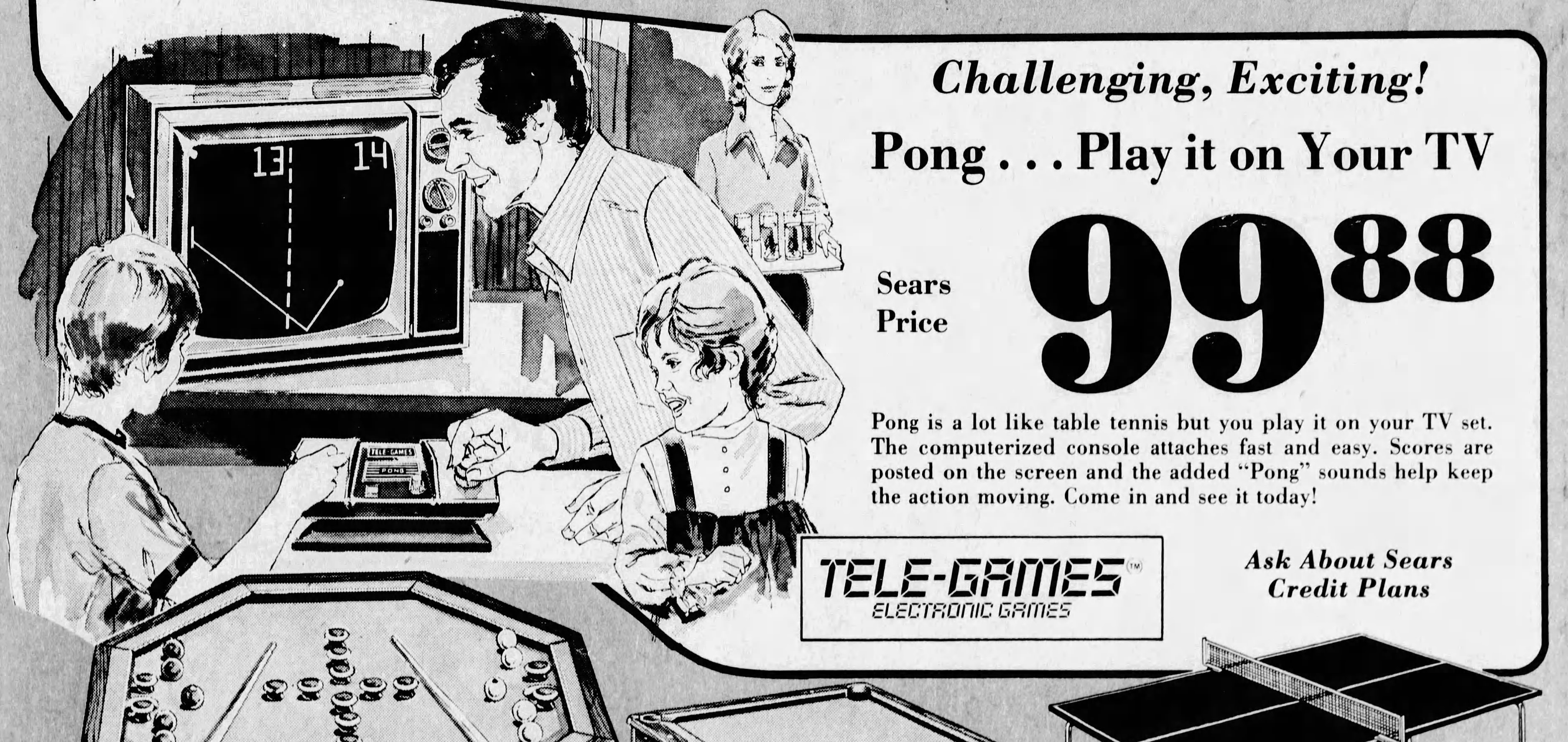 Home video game console Pong, by Atari