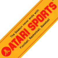 Banner for Atari Sports, makers of coin-op video games for the arcade