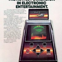 Magazine ad for Cosmos, a holographic tabletop game by Atari (unreleased)