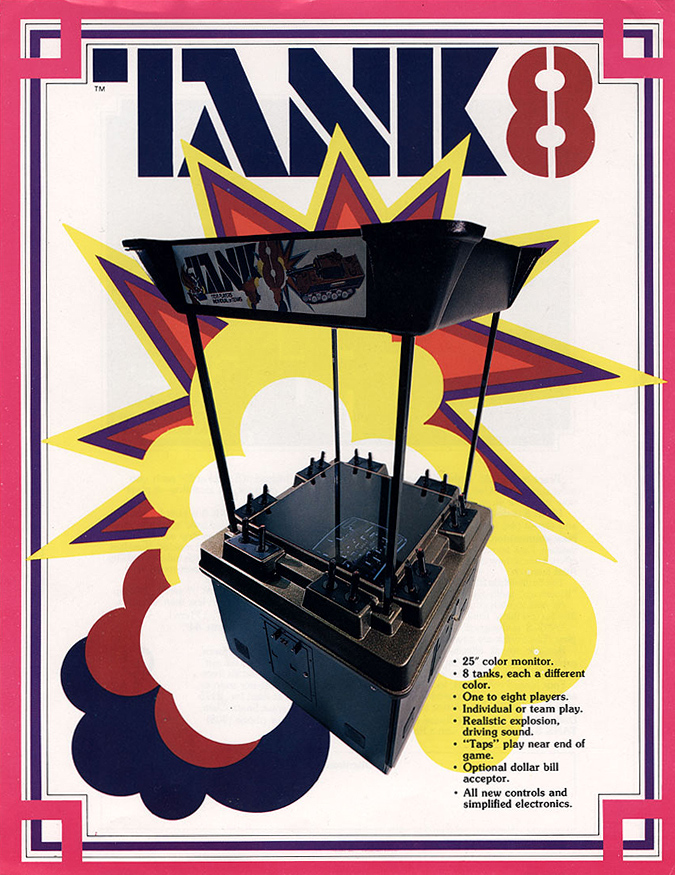 Tank 8, an arcade video game by Kee Games 1976