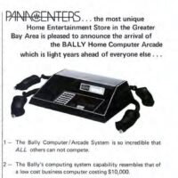 Bally Arcade home video game console, sold by Panacenters home entertainment stores, San Francisco