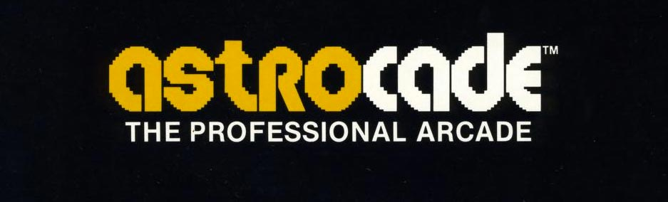 Logo for the astrocade, a video game system by astrocade