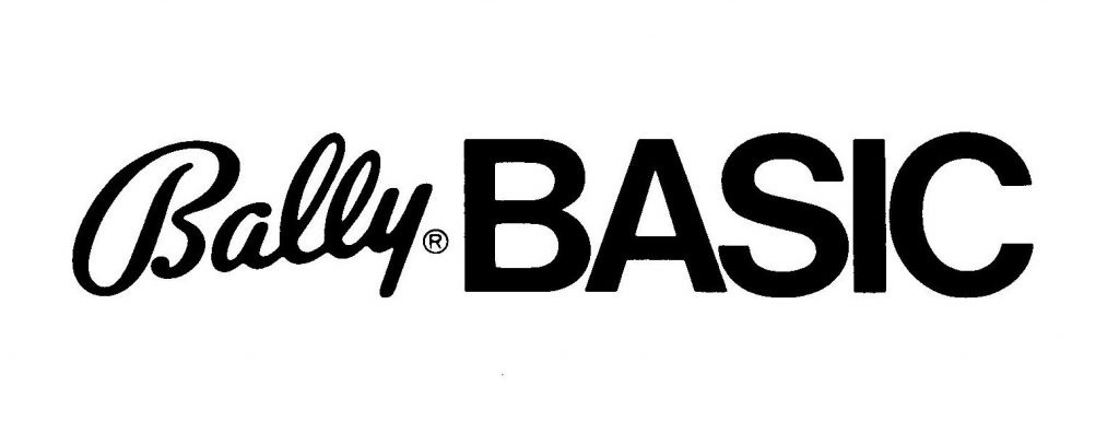 Logo for Bally BASIC, a programming language for the Bally Professional Arcade
