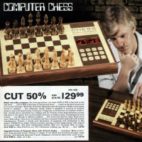 Page from the 1978 Montgomery ward Christmas Catalog, featuring Fidelity's Chess Challenger