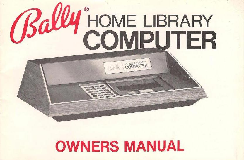 Manual cover for the Bally Home Library Computer, a video game system by Bally
