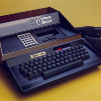 The ZGrass, an add-on keyboard/memory enhancer for the Astrocade, a home video game console by Astrocade 1982
