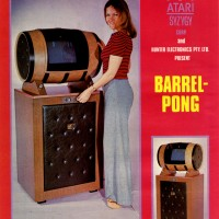 Sales flyer for Barrel PONG, a coin-op video game sold in Australia by Atari, 1972