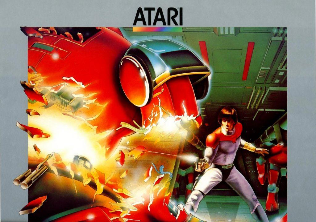 Artwork for Berzerk, a home video game for the Atari 2600