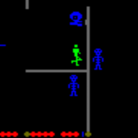 Gameplay from Frenzy, an arcade video game by URL/Stern 1982