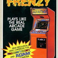 Box art for Frenzy, a home video game for the ColecoVision by Coleco 1983