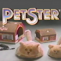 Still from an ad for Petster, the mechanical pet from Nolan Bushnell