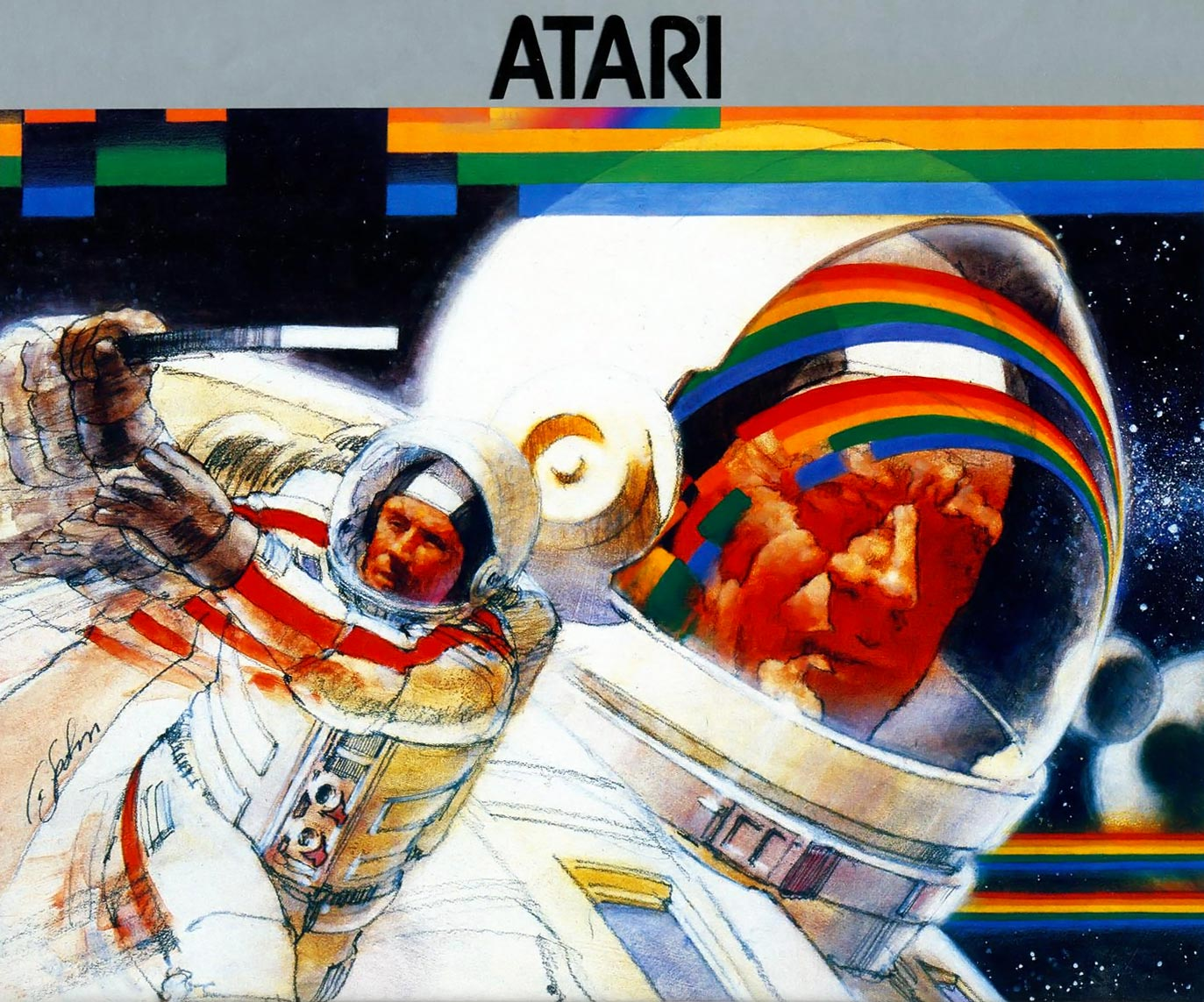 Art for Super Breakout, a video game for the Atari 2600