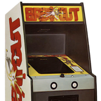 Cabinet for Breakout, created by Steve Wozniak and Steve Jobs for Atari, 1976