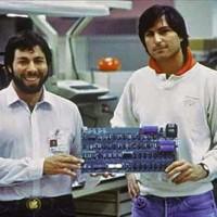 Steve Wozniak and Steve Jobs at Apple, 1977