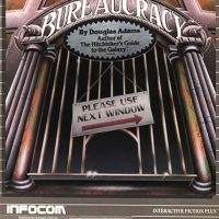 Cover for Macintosh version of Bureaucracy, a computer text adventure game by Infocom 1987