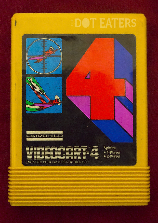 Label from a game for the Channel F, a home video game system by Fairchild 1976