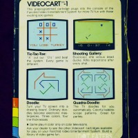 Back of the box of a game for the Channel F, a home video game system by Fairchild 1976