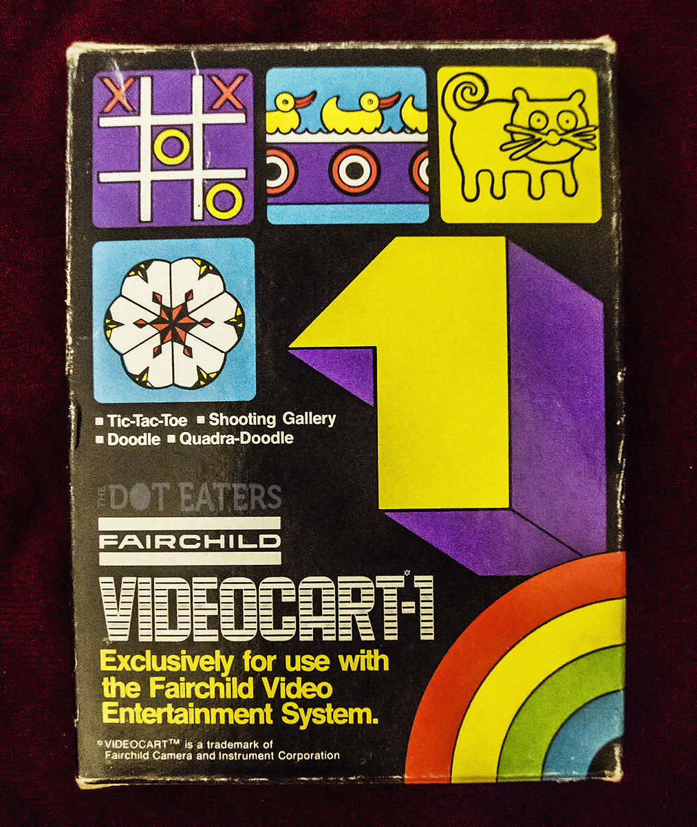 Front cover from a game for the Channel F, a home video game system by Fairchild 1976