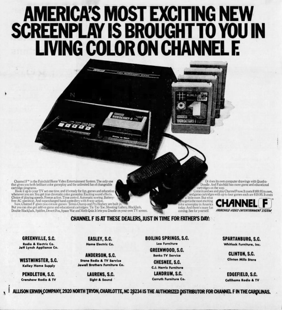 1977 ad for the Channel F video game system