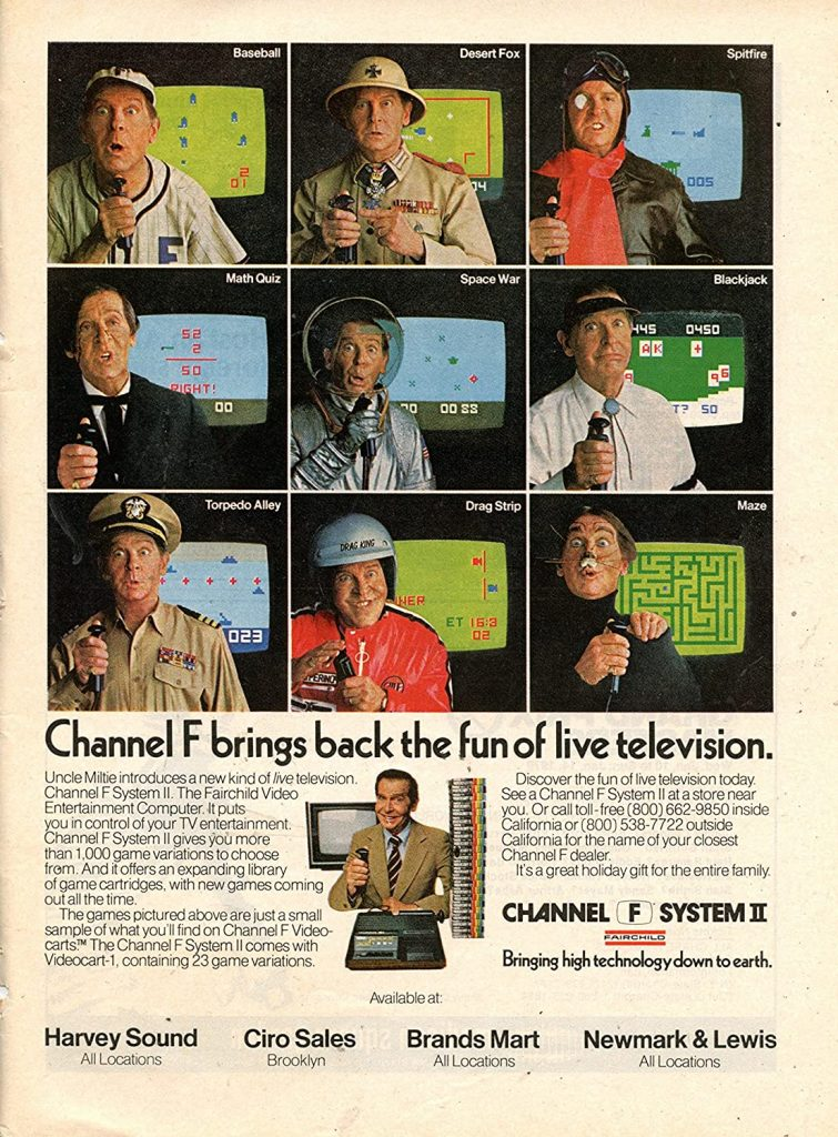Milton Berle ad for the Channel F System II video game system