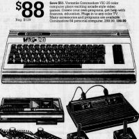 Montgomery Ward ad for home computer and video games