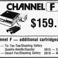 1977 ad for the Channel F, a home video game system by Fairchild