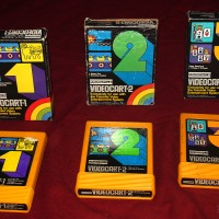 Cartridges for the Channel F, a home video game system by Fairchild 1976