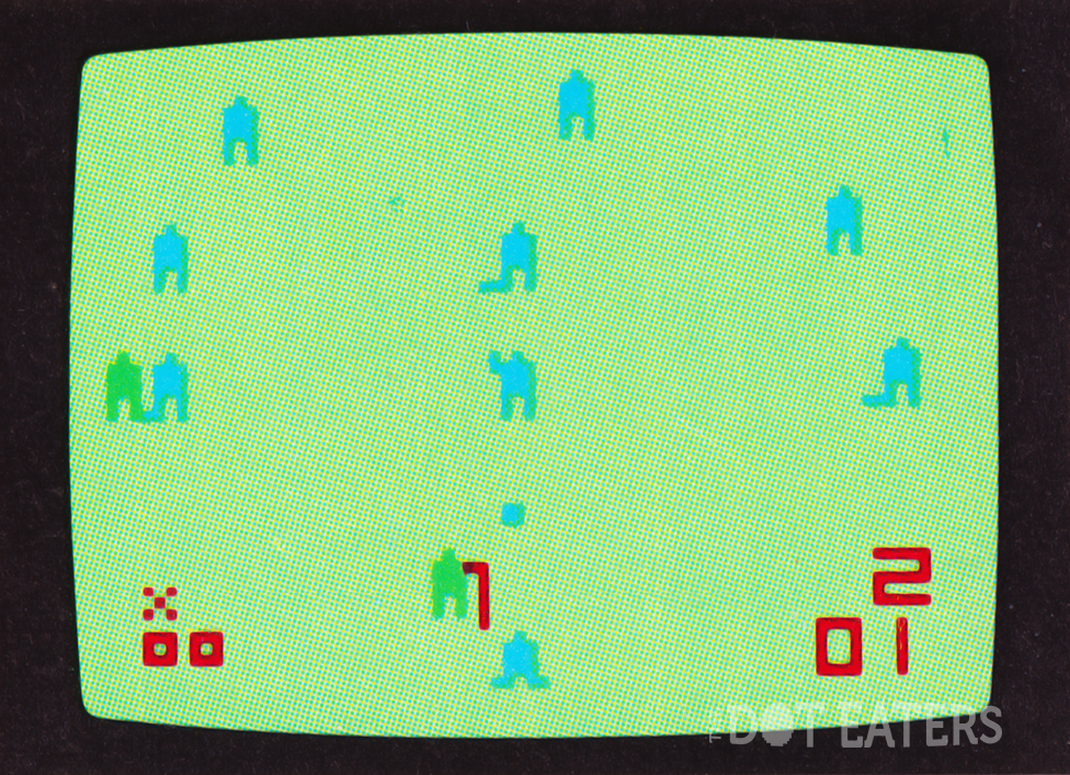 Snapshot of Baseball, a game for the Channel F, a home video game system by Fairchild 1976