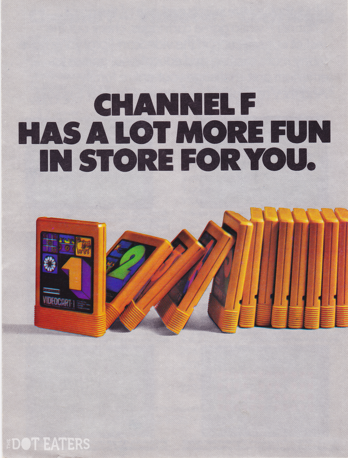 Cover of a catalog for the Channel F, a home video game system by Fairchild 1976