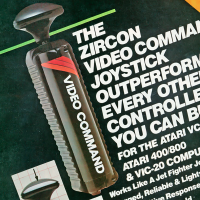 Magazine ad for the Video Command Joystick, by Zircon International