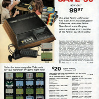 Page from 1978 Montgomery Wards Christmas catalog, featuring the Channel F, a home video game system by Fairchild
