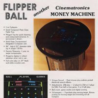 Flipper Ball, a PONG type arcade video game by Cinematronics