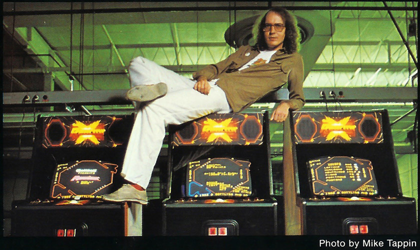Image of Tim Skelly atop Reactor cabinets