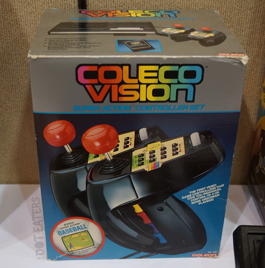 The Super Action Controllers, peripherals for the ColecoVision, a home video game system by Coleco