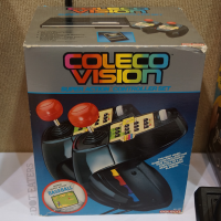 Super Action Controllers, a peripheral for the ColecoVision, a home video game system by Coleco, 1983
