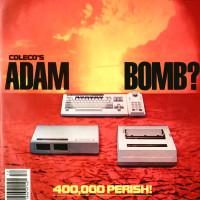 Magazine cover featuring Adam, a home video game and computer system by Coleco