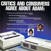 Ad for the Coleco ADAM home computer, 1984