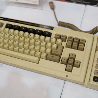 ADAM keyboard, part of an add-on released in 1982 for the ColecoVision, a home video game system by Coleco