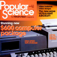 Popular Science cover featuring ADAM, a home computer by video game maker Coleco, 1983