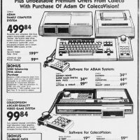 ADAM home computer and ColecoVision video game console on sale