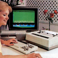 1984 product shot of the ADAM home computer prototype from Coleco