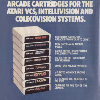 Ad for ColecoVision games, a home video game console by Coleco