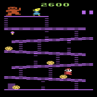 Snap of Donkey Kong, a home video game by Coleco 1982