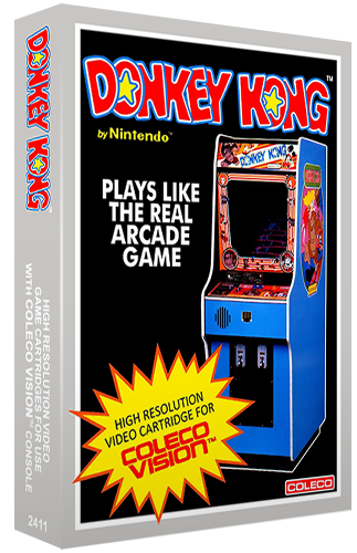 Donkey Kong, a home video game for the ColecoVision video game console
