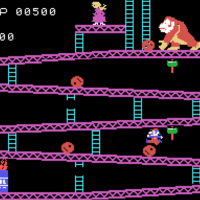 Snap of Donkey Kong, a home video game for the ColecoVIsion 1982