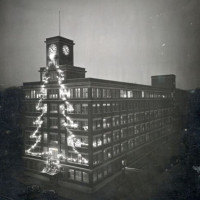 Vintage photo of future factory of Coleco, a video game company, 1927