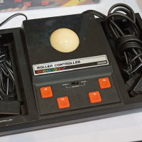 Roller Controller, a peripheral for ColecoVision, a home video game system by Coleco, 1983