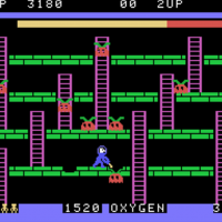 Snap of Space Panic, a home video game for the ColecoVision 1982