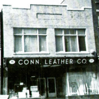 Storefront of the Connecticut Leather Company, eventually to become home video game maker Coleco Industries